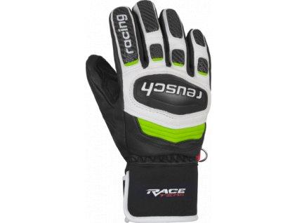 Rukavice Reusch RACE TEC 18 GS JUNIOR, black white neon green 01