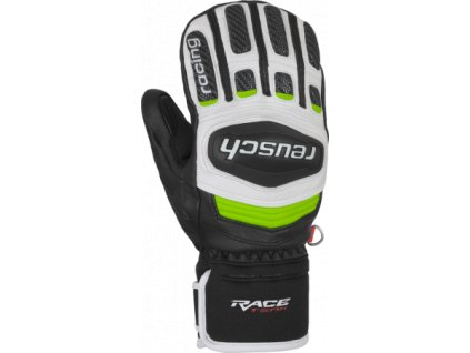 Rukavice palcové Reusch RACE TEC 18 GS JUNIOR MITTEN, black white neon green 01