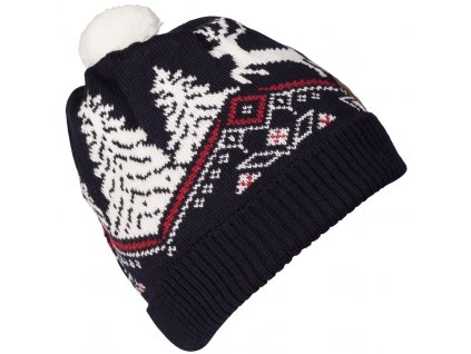 Čepice Dale CHRISTMAS KIDS HAT, navy off white raspberry