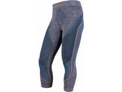 Kalhoty UYN AMBITYON UW PANTS MEN MEDIUM, black melange atlantic orange shiny 02