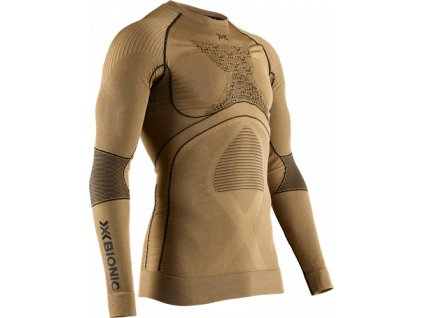 Triko X Bionic RADIACTOR 4.0 SHIRT ROUND NECK LG SL MEN, gold black 01