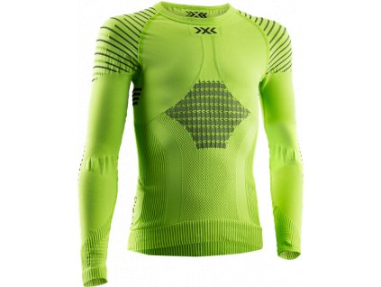Triko X Bionic INVENT 4.0 SHIRT ROUND NECK LG SL, green lime black 01