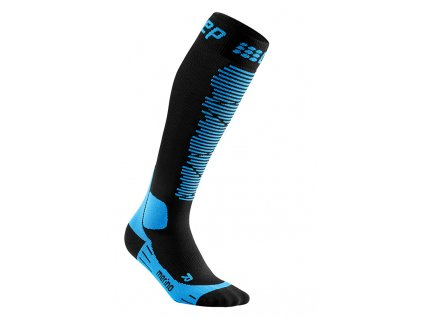 Ponožky Cep SKI MERINO COMPRESSION SOCKS, black/blue