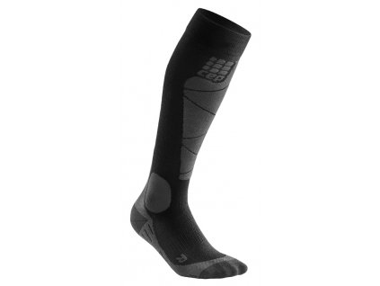 Ponožky Cep SKI MERINO COMPRESSION SOCKS, black anthracite 01