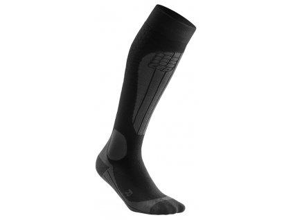Ponožky Cep SKI THERMO COMPRESSION SOCKS, black anthracite 02