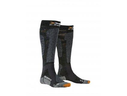 Ponožky X socks CARVE SILVER 4.0, anthracite melange black melange