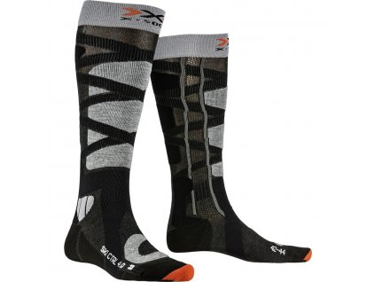 Ponožky X socks SKI CONTROL 4.0, anthracite melange stone grey melange