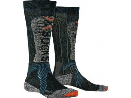 Ponožky X socks SKI ENERGIZER LT 4.0, petrol stone grey melange