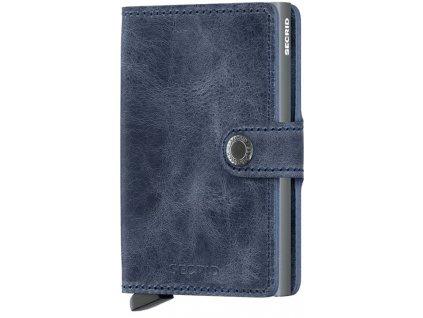 Peněženka Secrid MINIWALLET VINTAGE, blue 01