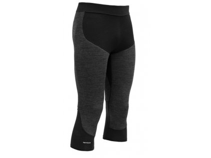 Kalhoty Devold TINDEN SPACER MAN 3 4 PANTS, anthracite