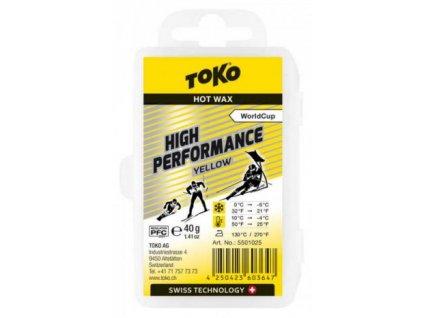 Vosk Toko HIGH PERFORMANCE, yellow, 40 g