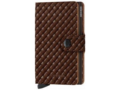 Peněženka Secrid MINIWALLET BASKET, brown 01
