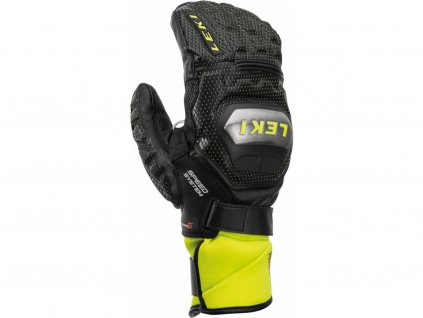 42576 2 rukavice palcove leki wc race ti s system mitt black ice lemon