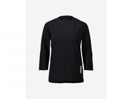 Dámský dres POC Resistance W's 3/4 Jersey, Uranium Black