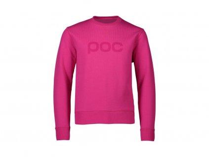 59790 2 detska mikina poc crew jr rhodonite pink