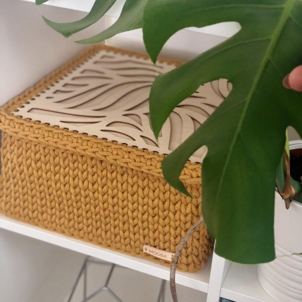 Úložný box s okrasným víkem 31x31x16