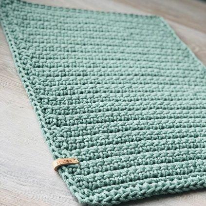 Háčkovaný koberec - obdélník