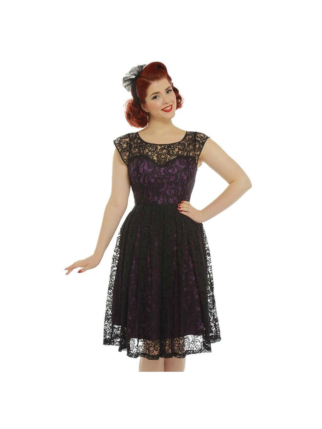 blair purple and black lace evening dress p3346 19129 zoom 51f7375e8e