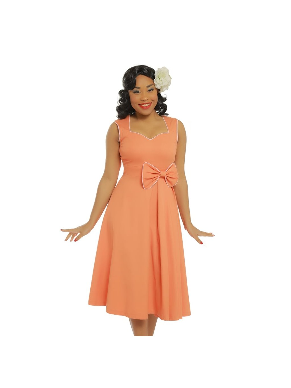 9d380c1a42a grace peach bow detail swing dress p3416 19674 zoom