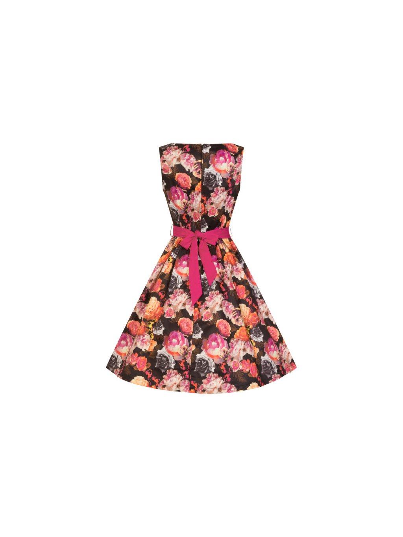 Dámské retro šaty Audrey Ve víru květin - MOODA.cz 2afe133147