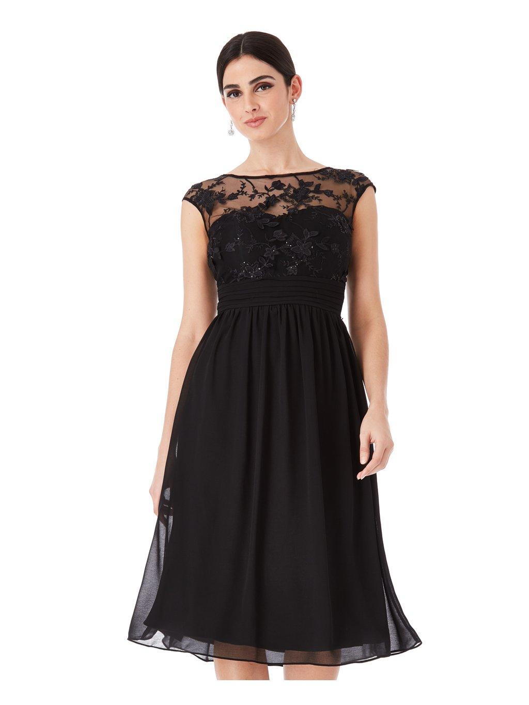 7a89f2d4654 Společenské šaty Divine krátké černé - MOODA.cz