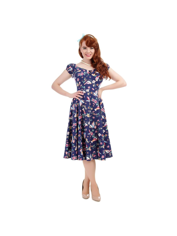 c34de5612d82 Dámské retro šaty Dolores Charming Bird - MOODA.cz