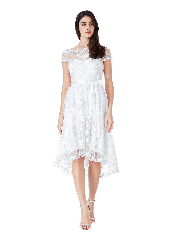 Společenské šaty Goddess bílé - MOODA.cz faeebc7837