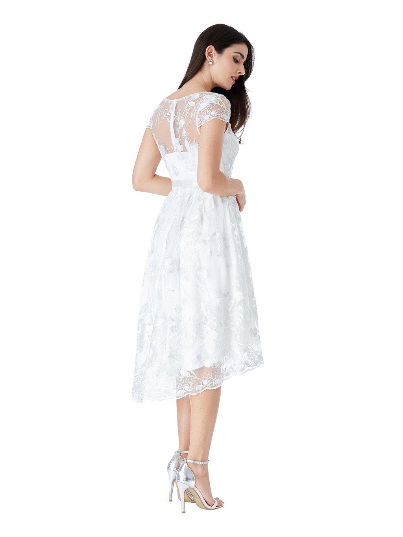 DR1498W white back l DR1498W white dt l. Společenské šaty ... 14063545af