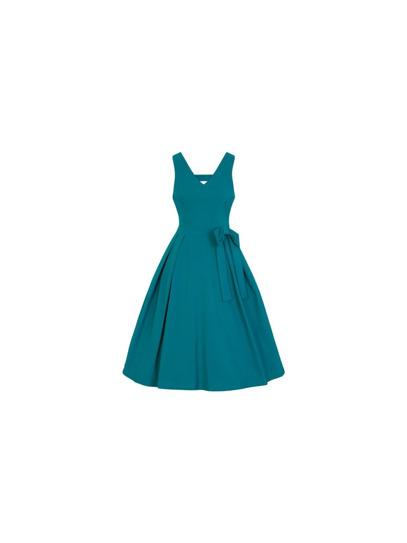 2e1533dbc6d Dámské retro šaty Lady Vintage Iris tyrkysové - MOODA.cz
