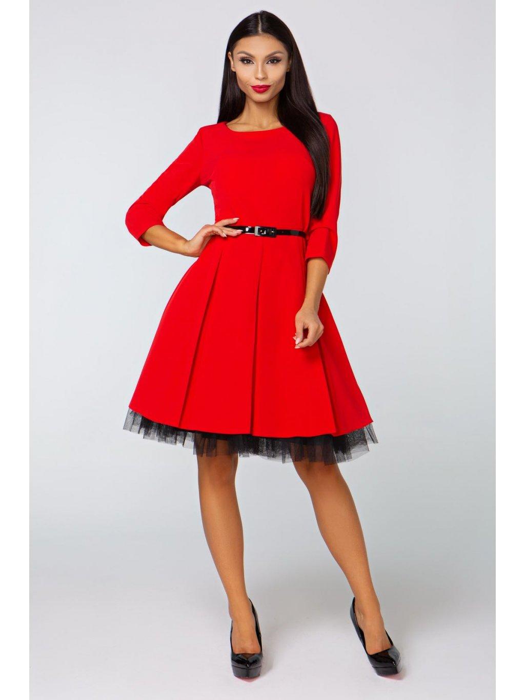 f068ad6f1dd Dámské šaty Podzim červené Dámské šaty Podzim červené
