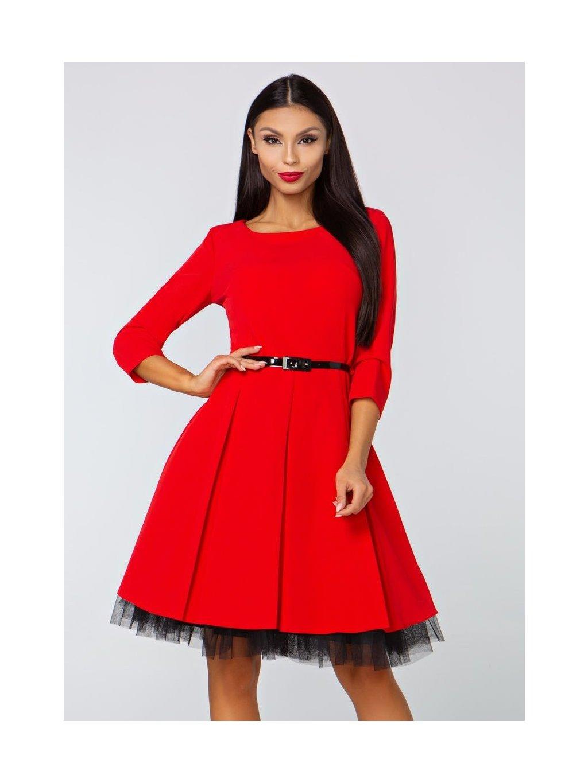 f04524d4f0f Dámské šaty Podzim červené - MOODA.cz