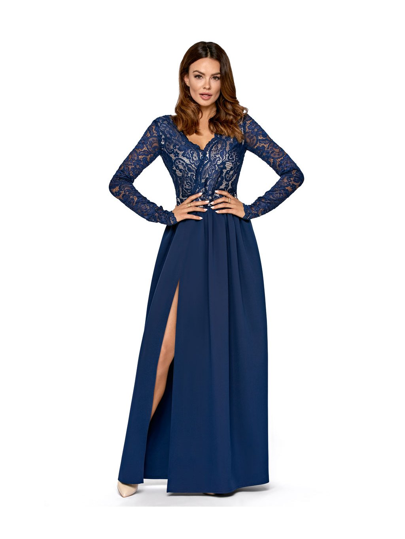 Plesové šaty Fanfára modré - MOODA.cz 03e59a5b83