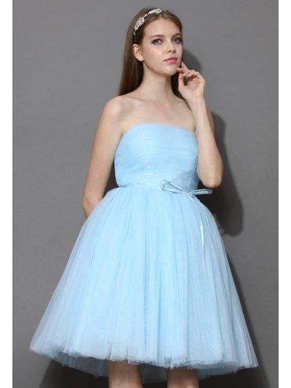 Chicwish Tutu šaty Mořská pěna modré