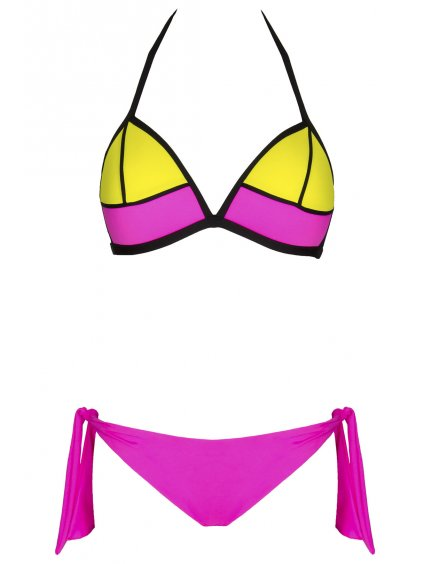 Dámské plavky Cindy růžovo žluté