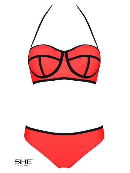 Dámské plavky Ingrid Lososové (Velikost L - košíček D)