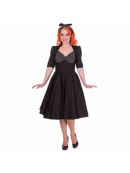 Dolly and Dotty retro šaty Lillian černobílé (Velikost 36)