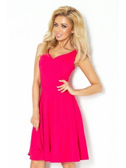 Dámské šaty Unique růžové (Velikost L)