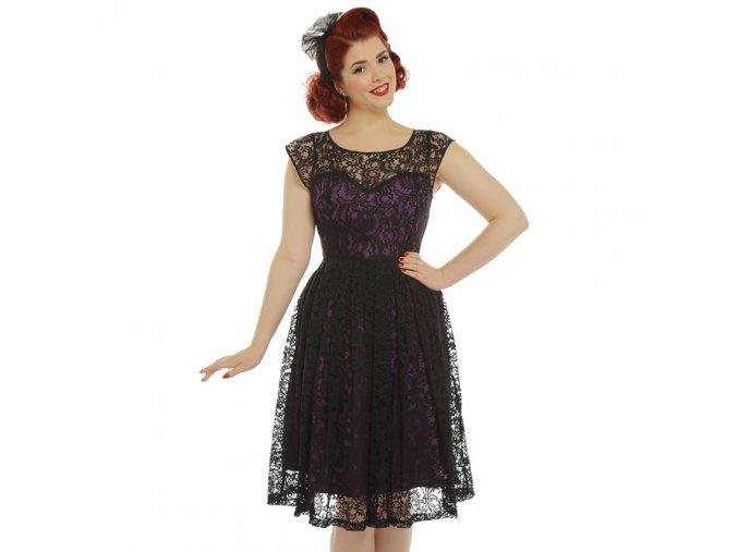 blair purple and black lace evening dress p3346 19129 zoom