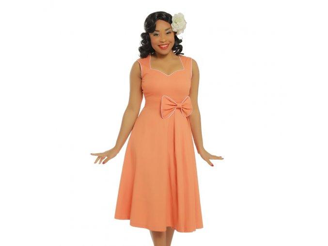 grace peach bow detail swing dress p3416 19674 zoom