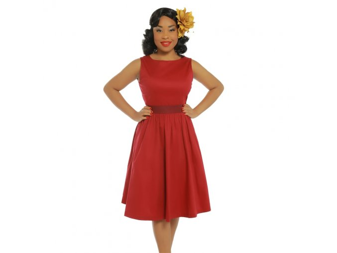 audrey dark red swing dress p3433 19781 zoom