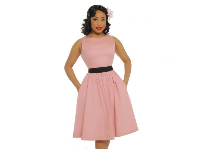 audrey pale pink swing dress p3465 20055 zoom