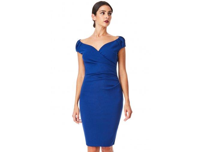 Pouzdrové šaty Linie modré