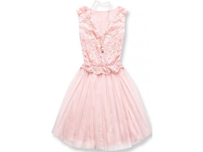 Dámské šaty Něžnost pudrové