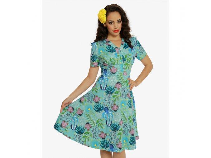 Dámské retro šaty Ionia Divoké květiny