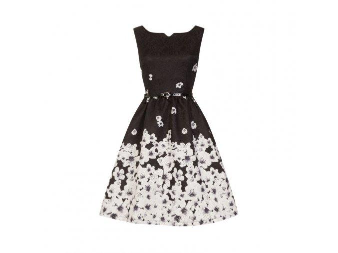 Dámské retro šaty Delta Černé poupě