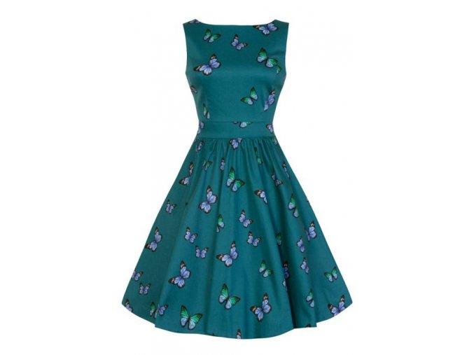 Dámské retro šaty Lady Vintage Tea Nepolapitelný motýlek