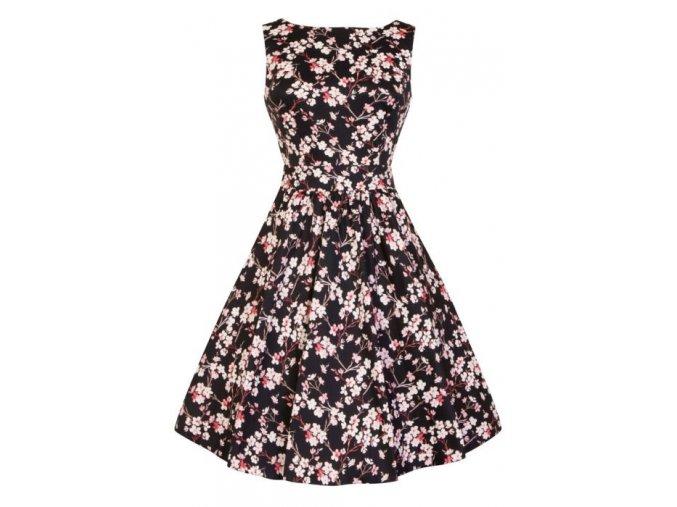 Dámské retro šaty Lady Vintage Tea Cherry Blossom
