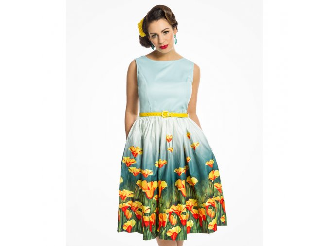 audrey teal flowers6945