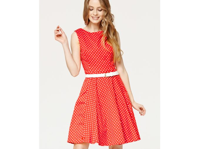 Audrey Red Polka 01