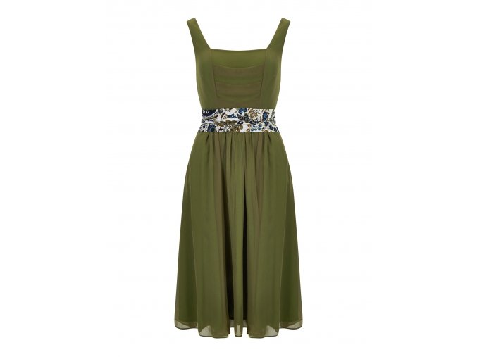 Dámské retro šaty Bright zelené
